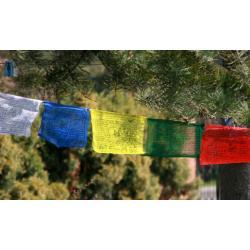 BUDDYJSKIE modlitewne FLAGI 14 cm INDIE / NEPAL