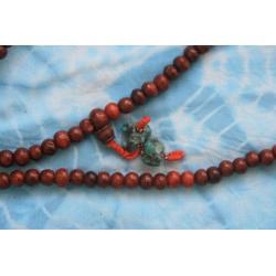buddyjska MALA - drewno i turkus - Nepal