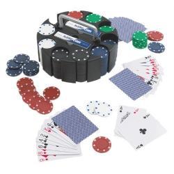 Zestaw do pokera 200 żetonów karty stojak