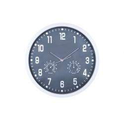 Duży zegar ścienny 35cm termometr i higrometr