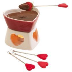 Czekoladowe fondue w kształcie serca 4 osobowe