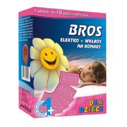 BROS elektro + 10 wkładów na komary dla dzieci