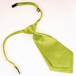 Krótki damski krawat kolor oliwkowy