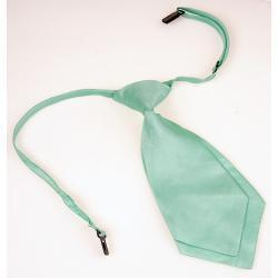 Krótki damski krawat kolor seledynowy