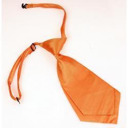 Krótki damski krawat kolor pomarańczowy