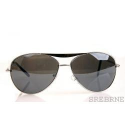 OKULARY AVIATOR MODEL NEW SREBRNY