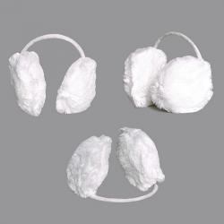 Nauszniki futrzane kolor biały