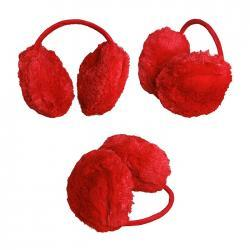 Nauszniki futrzane kolor czerwony