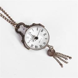 Zegarek kulka na łańcuszku stare zloto