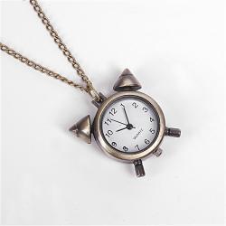 Zegarek budzik na łańcuszku stare złoto