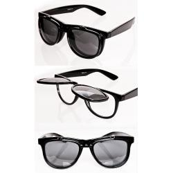 Okulary Wayfarer 2 w 1