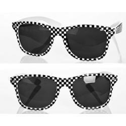 Okulary Wayfarer przeciwsłoneczne szachownica białe