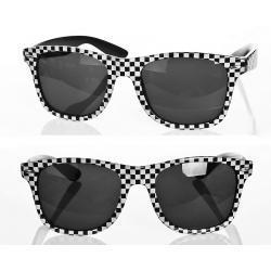 Okulary Wayfarer przeciwsłoneczne szachownica czarne