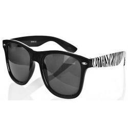 Okulary przeciwsłoneczne Wayfarer zebra new czarne