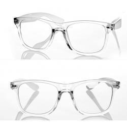 Okulary model Magda zerówki białe