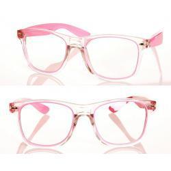 Okulary model Magda zerówki różowe