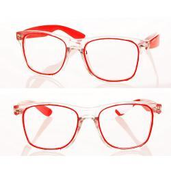 Okulary model Magda zerówki czerwone