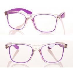 Okulary model Magda zerówki fioletowe