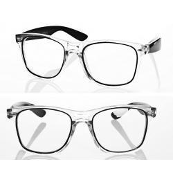 Okulary model Magda zerówki czarne
