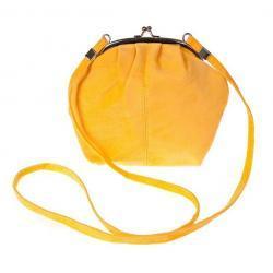Torebka na bigiel zamsz kolor żółty