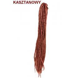 Dredy pojedyńcze kolor kasztan