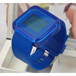 Zegarki electro kolor niebieski