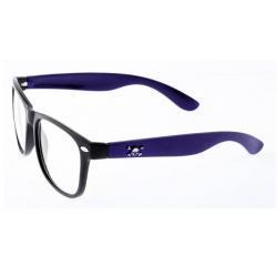 okulary zerówki wyafarer duo z czaszką fioletowe