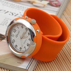 Zegarek slap zaciskowy pomarańczowy
