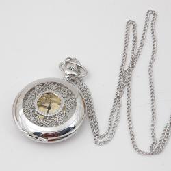 zegarek otwierany srebrny ażur retro