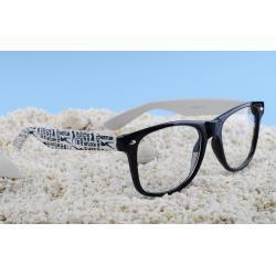 okulary typu wayfarer zerówki Hustler