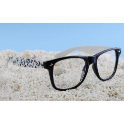 okulary typu wayfarer zerówki nutki