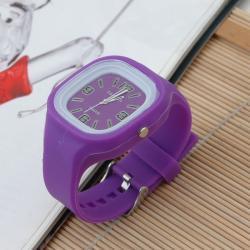 Zegarek gumowy świecący fioletowy