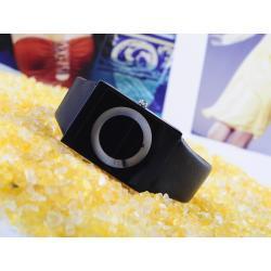 Zegarek jak CD czarno-biały