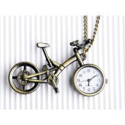 Zegarek rowerek stare złoto