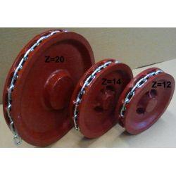 KOŁO GNIAZDOWE Wciągnika Z=14 ŁAŃCUCH  5X18,5 Przemysł metalowy i hutnictwo