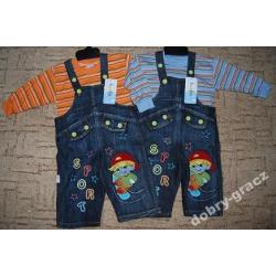 Spodnie jeansowe z bluzką długi rękaw