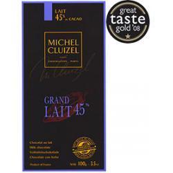 Michel Cluizel Grand Lait 45%, czekolada mleczna 100 g.