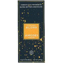 Amedei Toscano Blond, 63% gorzka czekolada z żółtymi owocami 100 g.