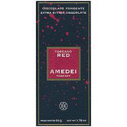 Amedei Toscano Red, 70% gorzka czekolada nadziewana czerwonymi owocami, 100 g.