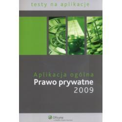 Aplikacja ogólna  Prawo prywatne 2009