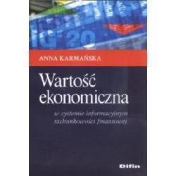 Wartość ekonomiczna  w systemie informacyjnym ra