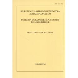 Biuletyn Polskiego Towarzystwa Językoznawczego