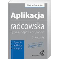 Aplikacja radcowska - Pytania, odpowiedzi, tabele
