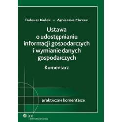 Ustawa o udostępnianiu informacji gospodarczych i