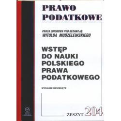 0 Wstęp do nauki polskiego prawa podatkowego. Zesz