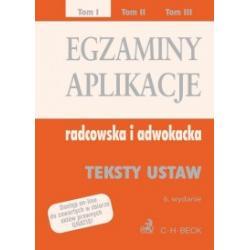 Egzaminy - Aplikacje radcowska i adwokacka r.2012