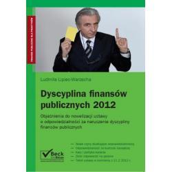 0 Dyscyplina finansów publicznych 2012 r. Komentar