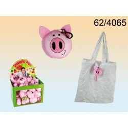 Torba wielokrotnego użytku na zakupy świnka