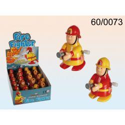 Drepczący strażak nakręcana zabawka