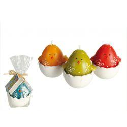 Kurczaczek w połówce jajka swieczka